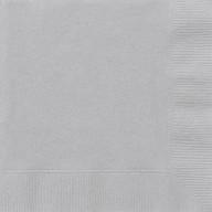 Ubrousky stříbrné 20ks 2-vrstvé 33cm x 33cm