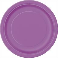 Talíře papírové fialové 8ks 18cm