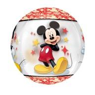 Mickey Mouse foliový balónek kulatý 38cm x 40cm