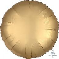 Balónek kruh satén zlatý 43 cm
