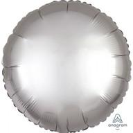 Balónek kruh satén stříbrný 43 cm