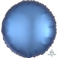 Balónek kruh satén modrý 43 cm