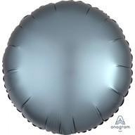 Balónek kruh satén Steel Blue 43 cm