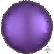 Balónek kruh satén fialový 43 cm