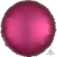 Balónek kruh satén tmavě červený 43 cm