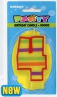 Svíčka na dort číslo 4