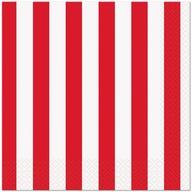 Ubrousky červený proužek 16ks, 33 cm x 33 cm