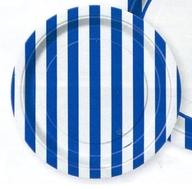 Talíře modrý proužek 8ks 18cm