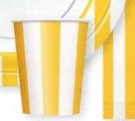 Kelímky žlutý proužek 6ks 0,25l