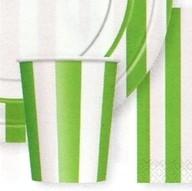 Kelímky zelený proužek 6ks 0,25l