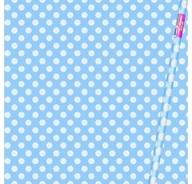 Balící papír světle modro - bílé tečky 76,2cm x 1,52m
