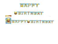 Emoji šťastné narozeniny nápis 1,82m x 15cm