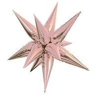 Hvězda růžovo-zlatá 70 cm 3D foliový balón