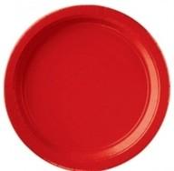 Talíře papírové Apple Red 8ks 18cm