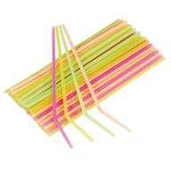 Slámky na pití neonové 40ks