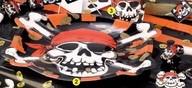 Talíř piráti tvarovaný 6ks