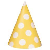 Čepice žluto - bílé 8ks