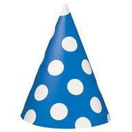 Čepice modro - bílé 8ks