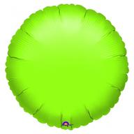 Balónek kruh Lime Green Metallic 43cm
