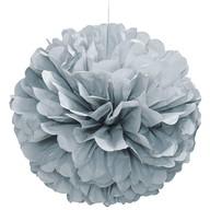 Papírová dekorace stříbrá 40cm