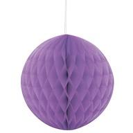 Papírová dekorace kulatá fialová 20cm
