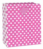 Taška na dárek růžovo - bílé tečky