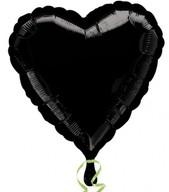 Balónek foliový srdce Black