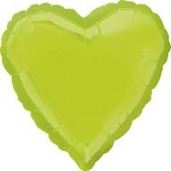 Balonek srdce foliové světle zelený
