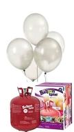 Helium Balloon time sada 50ks balonky White 002