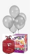 Helium Balloon time sada balónky Metallic Silver