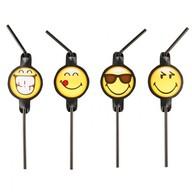 Smiley Emoticons slámky na pití 8ks