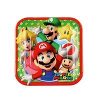 Super Mario talíře 8ks 18cm x 18cm
