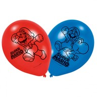 Super Mario balonky 6ks 22,8cm