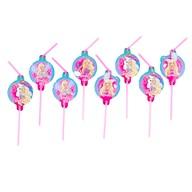 Barbie slámky na pití 8ks
