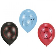 Kouzelná beruška a černý kocour balónky 6 ks 22,8 cm