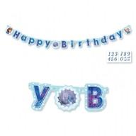 Frozen narozeniny nápis s číslem k nalepení 180cm x 15cm