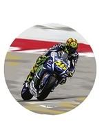 Jedlý papír moto Valentino Rossi 21cm