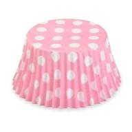 Košíčky růžové puntíky 50ks