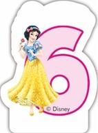 Princess svíčka na dort číslo 6