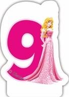 Princess svíčka na dort číslo 9