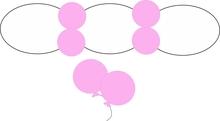 Balonek D5 dekorační 004 Pink