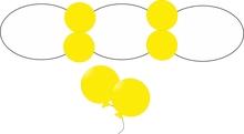 Balonek D5 dekorační 006 Yellow