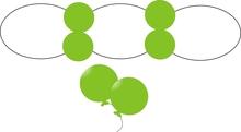 Balonek D5 dekorační 014 Lime Green