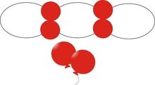 Balonek D5 dekorační 101 Red