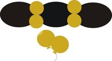 Balonek D5 dekorační 060 Gold metalický