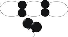 Balonek D5 dekorační 025 Black