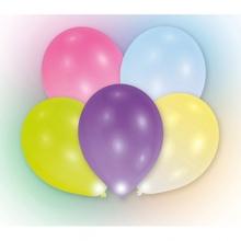 Balónky mix barev svítící 5ks LED