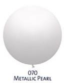 Obří metal. balónek - JUMBO - 070 PEARL