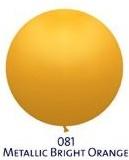 Obří metal. balónek - JUMBO - 081 BRIGHT ORANGE