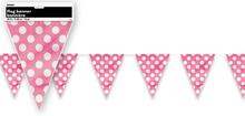 Vlajka růžovo - bílé tečky 3,65m
